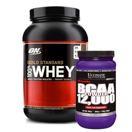 4460e0fff Gold Standard 900g Optimum Nutrition + BCAA em Pó 60 doses Sem Sabor  Ultimate Nutrition